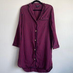 [Madewell] Plaid Shirtdress Size XXS
